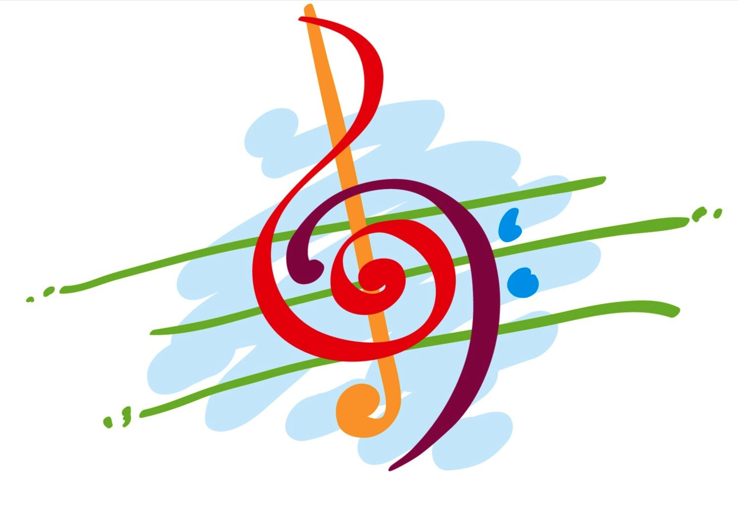 colorful-music-notes-in-a-line-tumblr static music note